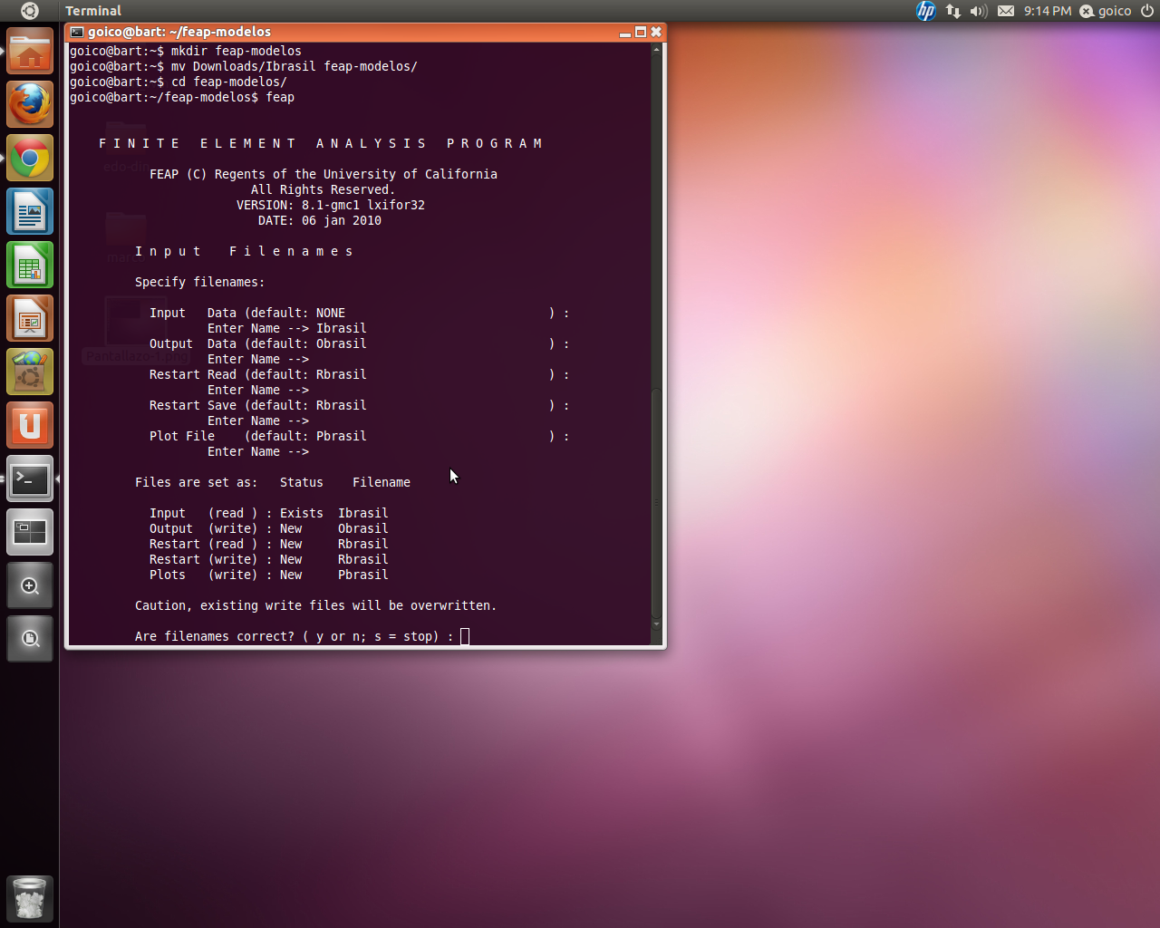 FEAP for GNU Linux